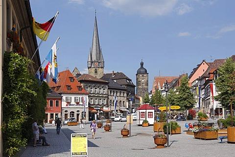 Marktplatz square, Lichtenfels, Upper Franconia, Franconia, Bavaria, Germany, Europe