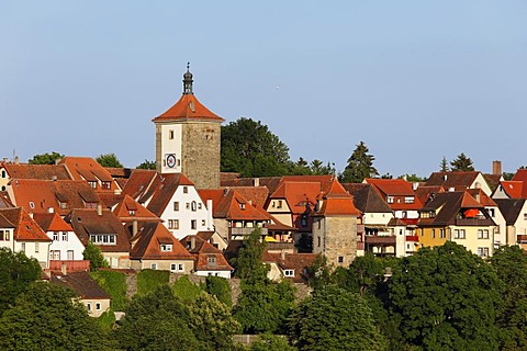 Siebersturm tower, Rothenburg ob der Tauber, Romantic Road, Middle Franconia, Franconia, Bavaria, Germany, Europe