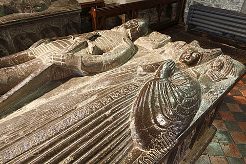 Tomb of Piers Butler and Margaret Fitzgerald, St Canice's Cathedral or Kilkenny Cathedral, Kilkenny, County Kilkenny, Republic of Ireland, British Isles, Europe