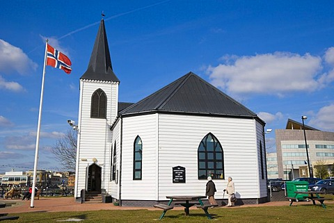 Norwegian Church Arts Centre and Coffee Shop, Cardiff Bay, Cardiff, Caerdydd, South Glamorgan, Wales, United Kingdom, Europe