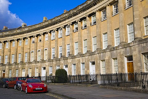 Royal Crescent by John Wood The Younger, Bath, Somerset, England, United Kingdom, Europe