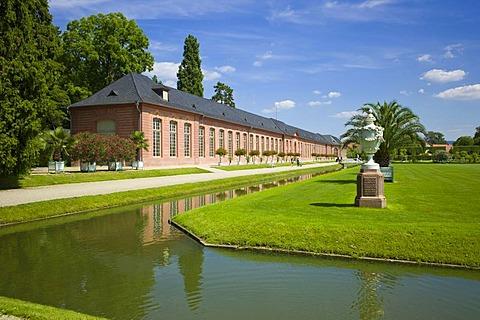 New orangery, Schloss Schwetzingen castle, 18th century, Schwetzingen, Baden-Wuerttemberg, Germany, Europe