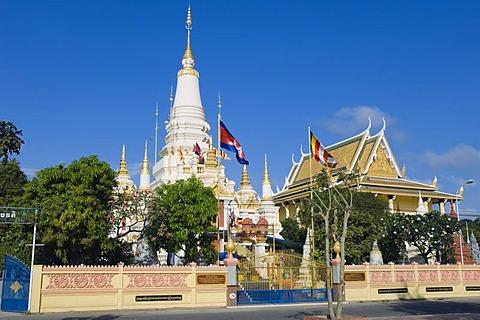 Wat Botum, temple, Phnom Penh, Cambodia, Indochina, Southeast Asia
