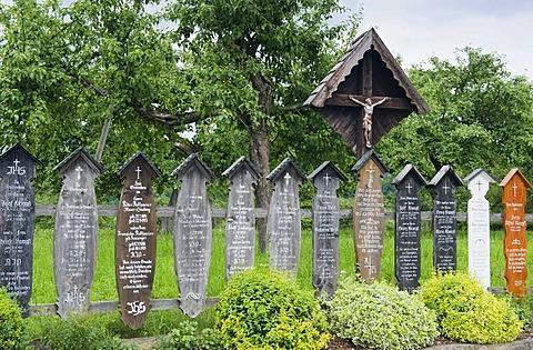 Dead boards, Lalling, Bavarian Forest, Lower Bavaria, Germany, Europe