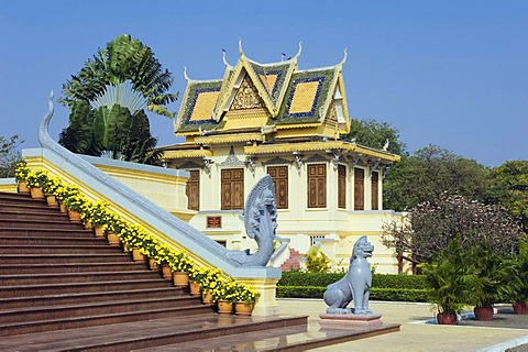 Royal Waiting Room in the Royal Palace, Phnom Penh, Cambodia, Indochina, Southeast Asia, Asia