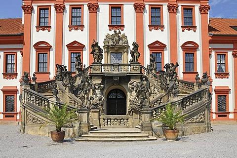 Outside staircase, Troja Castle, Prague
