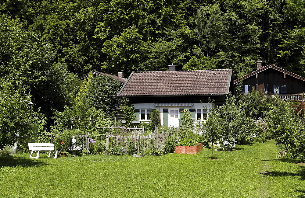 Cottage style home, Prien, Chiemgau, Upper Bavaria, Germany, Europe