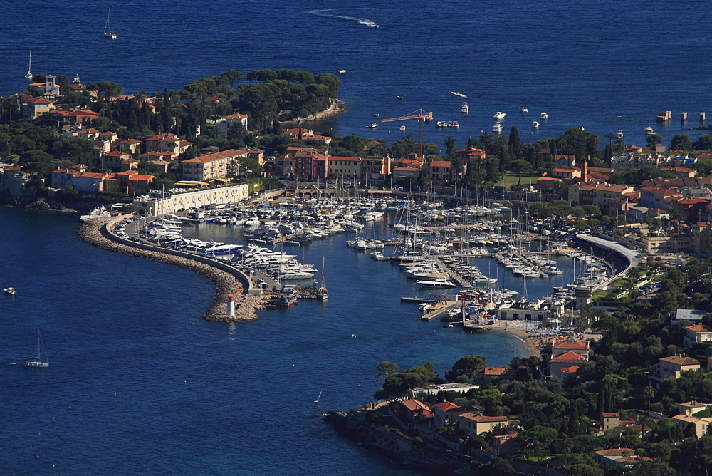 St. Jean Cap Ferrat with marina, Departement Alpes Maritimes, Region Provence Alpes Cote d'Azur, France, Europe