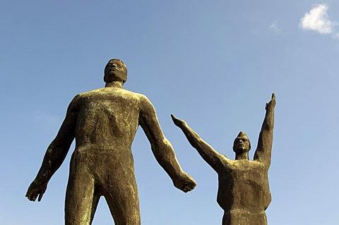 Sculptures of the Soviet Heroic Memorial, Statue Park, Memento Park, Szoborpark, Budapest, Hungary, Europe