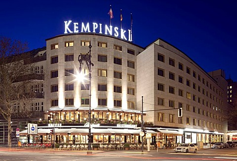 Kempinski Hotel, Kurfuerstendamm street, Charlottenburg district, Berlin, Germany, Europe