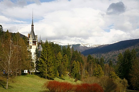 Pele& Castle in Sinaia, Carpathian Mountains, Romania, Europe