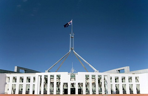 The new Parliament House on Capital Hill in Canberra, Australian Capital Territory, Australia