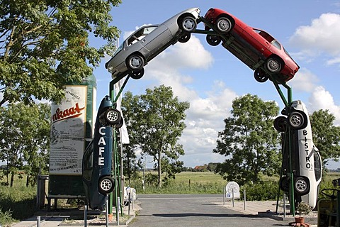 Exit, North Sea Car Museum, Norden, Aurich district, East Frisia, Lower Saxony, Germany, Europe