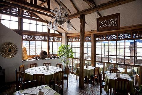 Empty restaurant, Bogota, Colombia, South America
