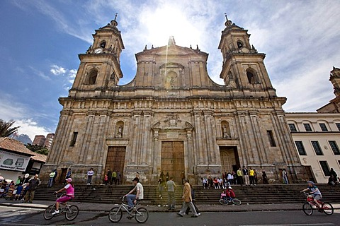 Bogota Cathedral, Plaza de Bolivar, Bogota, Colombia, South America