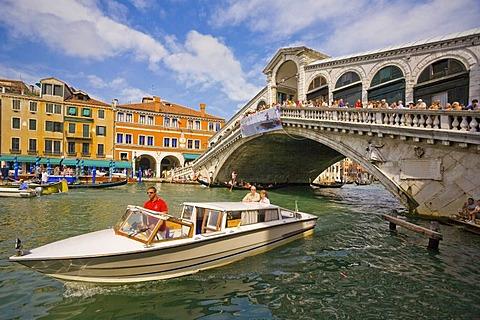 The Rialto Bridge on Grand Canal, Venice, Italy, Europe