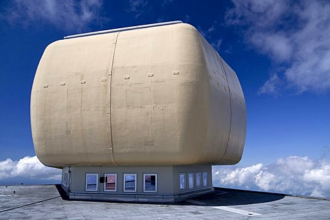 Radar station on Saentis Mountain, Alpstein Range, Appenzell, Switzerland, Alps, Europe