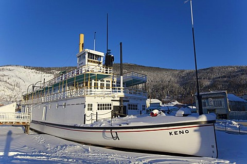 Historic stern wheeler, steam ship S.S. Keno, Dawson City, Yukon Territory, Canada