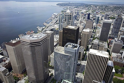 Cityscape of Seattle from the Columbia Center, Seattle, Washington, USA