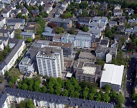 Aerial photo, Stiftungsklinikum Hospital, Koblenz, formerly Evangelisches Stift Hospital, Koblenz, Rhineland-Palatinate, Germany, Europe