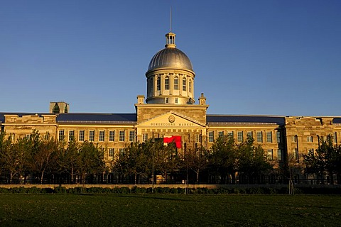 The building of the Bonsecours Market or Marche Bonsecours, Montreal, Quebec, Canada