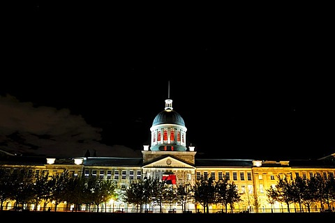 Building of the Bonsecours Market or Marche Bonsecours, Montreal, Quebec, Canada