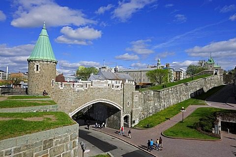 The walls surrounding the historic town centre of Quebec City, Quebec, Canada