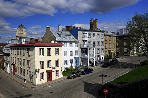 Streets in the historic town centre of Quebec City, Quebec, Canada