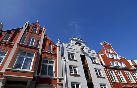 Historic buildings in Wismar, Mecklenburg-Western Pomerania, Germany, Europe