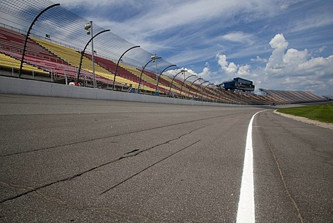 Michigan International Speedway which features a two-mile race track and seats nearly 120, 000 fans for NASCAR races, Brooklyn, Michigan, USA, America