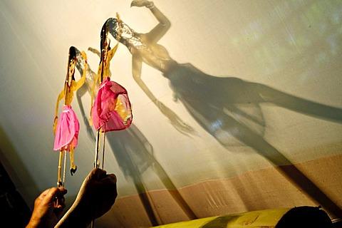 Shadow puppet performance, Suchart Subsin Museum, Nakhon Si Thammarat, Thailand, Asia