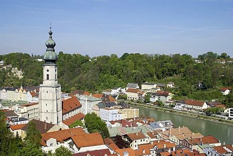 Overlooking Burghausen, Bavaria, Germany, Europe