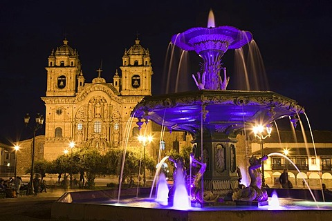 Iglesia La Compania de Jesus, Church of the Society of Jesus, Jesuit church, Plaza de Armas, Cuzco, Peru, South America - 832-155821