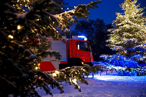 Fire-fighting operations at Christmas time