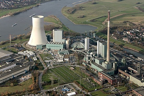 Aerial photo, STEAG EVONIK coal power station Walsum, building site, Duisburg, Rhein, North Rhine-Westphalia, Ruhr, Germany, Europe