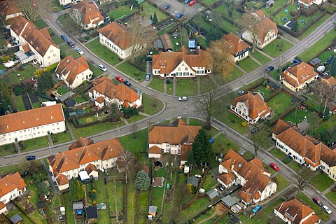 Aerial photo, Teutoburgia Colliery Village, Herne, Ruhr area, North Rhine-Westphalia, Germany, Europe