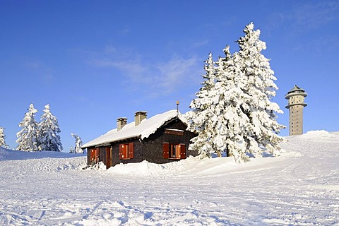 House of the mountain rescue on Mt Feldberg, Black Forest, Baden-Wuerttemberg, Germany, Europe