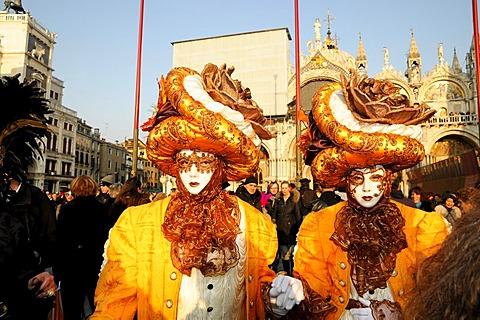 Masks, Carnevale, carnival in Venice, Veneto, Italy, Europe