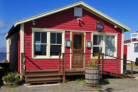 Typical wooden house in La Grave, Ile du Havre Aubert, Iles de la Madeleine, Magdalen Islands, Quebec Maritime, Canada, North America