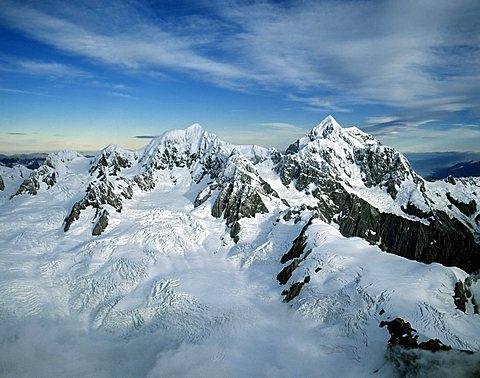Mount Tasman, aerial view, Aoraki/Mount Cook National Park, South Island, New Zealand