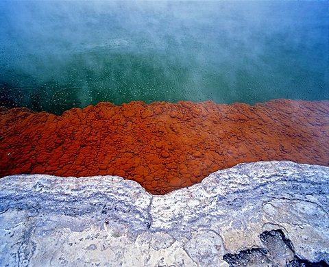 Champagne Pool, hot springs, geothermal area Waiotapu, Rotorua, North Island, New Zealand