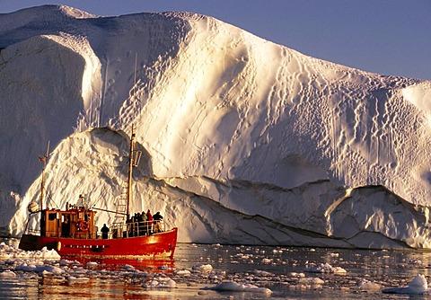 Shrimp boat in the Kangia Ice Fjord, Ilulissat, Jabobshavn, Greenland