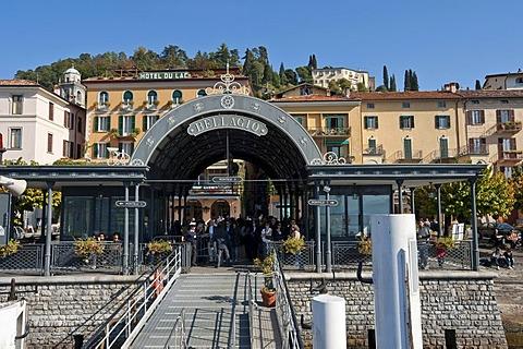 Jetty, Bellagio, Lake Como, Lombardy, Italy, Europe