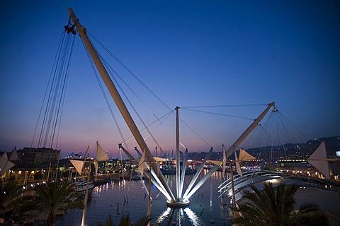 Porto Ragerra, waterfront promenade, Genova, Genoa, Liguria, Italy, Europe