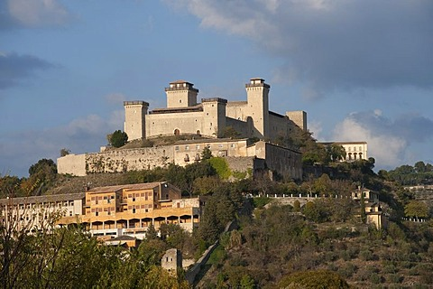Rocca di Albornoz, Spoleto, Umbria, Italy, Europe, PublicGround