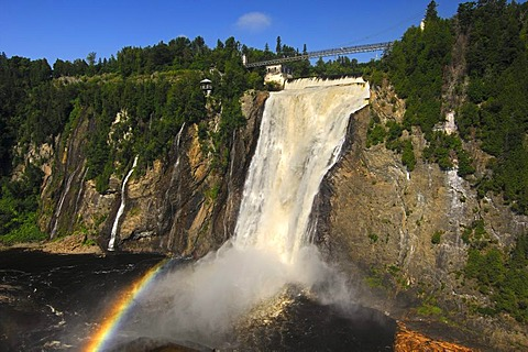 Natural spectacle Montmorency Falls, Beauport, Quebec, Canada