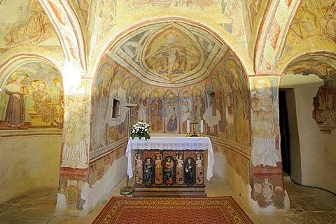Frescoes, romanesque Church of the Holy Trinity, Hrastovlje, Cristoglie, Slovenia, Europe