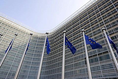 European Commission, Berlaymont building, Brussels, Belgium, Europe