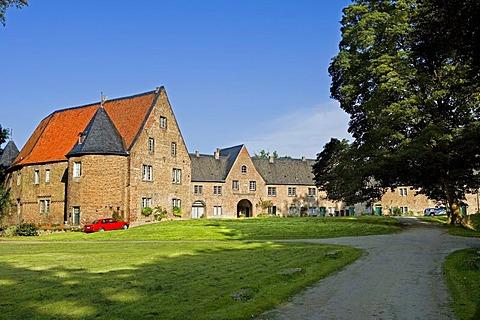 Outbuilding of Huelchrath Castle, Grevenbroich, North Rhine-Westphalia, Germany, Europe