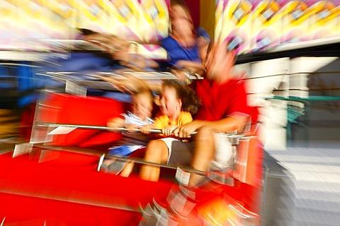 Carousel, folk festival, Muehldorf am Inn, Bavaria, Germany, Europe